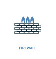 firewall icon in two colors premium design from vector image vector image