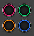 four colors shiny frames or buttons set vector image vector image
