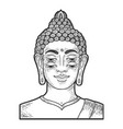 four eyes buddha sketch engraving vector image