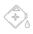 gasoline can line icon vector image