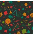 Geometric 1980s styled pattern vector image vector image