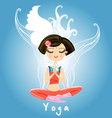girl engaged yoga vector image vector image