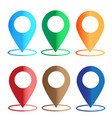 gps navigation application set map colors icon on vector image