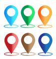 gps navigation application set map colors icon vector image vector image