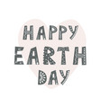 happy earth day hand drawn lettering in vector image