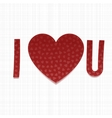 I love You Inscriptipn Valentines Day paper Type vector image