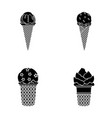 ice cream on a stick in a waffle cone and other vector image vector image