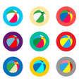 icon logo for set symbols beach ball vector image vector image