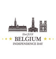 Independence Day Belgium vector image vector image