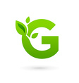 Letter G eco leaves logo icon design template vector image vector image