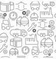line style icons seamless pattern industrial vector image