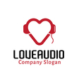 Love Audio Design vector image