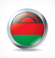 Malawi flag button vector image vector image