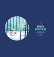 merry christmas happy new year polar bear vector image vector image