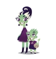Monster Family Zombie mother and her son vector image vector image