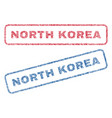 north korea textile stamps vector image vector image