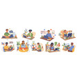 online study homework games child with computer vector image vector image
