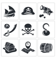 Pirates Icon collection vector image vector image