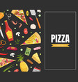 pizza card template with ingredients cooking book vector image vector image
