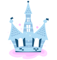 Princess sky Castle isolated on white - blue vector image vector image