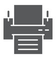 printer glyph icon office and work fax sign vector image
