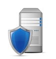 Protected computer vector image vector image