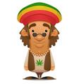rastafarian vector image