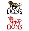 roaring lion mascot logo vector image