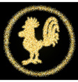 Rooster on black background vector image vector image