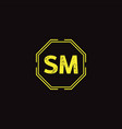 s m letter logo abstract design vector image vector image