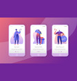 sale promotion marketing character mobile app page vector image
