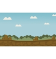 Scenery grass and beautiful sky vector image vector image