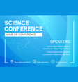 science conference business design template vector image vector image