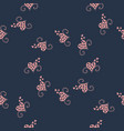 seamless pattern background with hearts vector image vector image