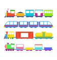 set of different kids trains games for vector image