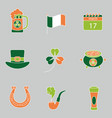 set saint patrick s day icons vector image vector image