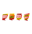 sets mega sale banner vector image