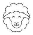 sheep thin line icon animal and rural lamb sign vector image
