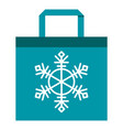 shopping bag blue vector image vector image