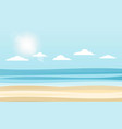 sky sea and sun vector image