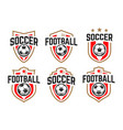 soccer classic emblems set vector image vector image