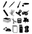 Stationary icons set vector image vector image