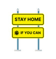 stop sign symbol stay home vector image