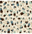 summer pattern ice creame vector image vector image