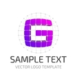 Template logo g vector image