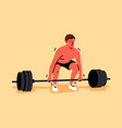 training sport lifting strength fitness vector image