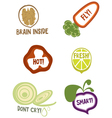 Useful qualities of organic foods vector image vector image