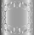 Vintage Royal Background Gray Silver Floral Luxury vector image vector image
