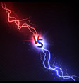 vs lightning thunderstorms and shining lightnings vector image vector image