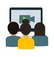 Webinar students vector image
